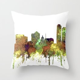 Milwaukee, Wisconson Skyline SG - Safari Buff Throw Pillow