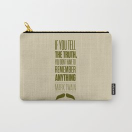 Lab No. 4 - Mark Twain quote truth life modern typographic Inspirational Quotes Poster Carry-All Pouch