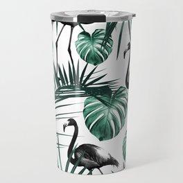 Tropical Flamingo Pattern #6 #tropical #decor #art #society6 Travel Mug