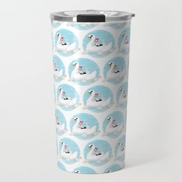 Summer Pool Party - White Swan Float C Travel Mug