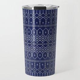 N111 - Jean Fabric, Farmhouse & Rustic Traditional Moroccan Style Artwork. Travel Mug