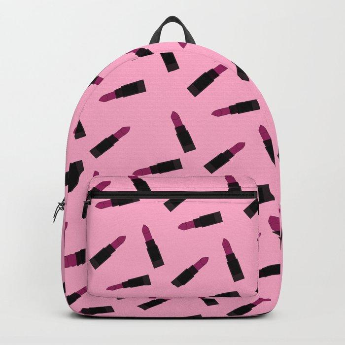 pink lipstick pattern Backpack