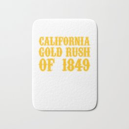 Old West Collection California Gold Rush Of 1849 Bath Mat