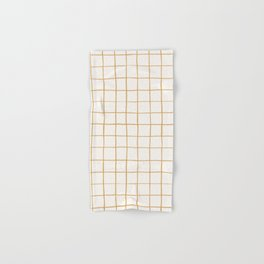 BASIC | Criss Cross Mustard Hand & Bath Towel