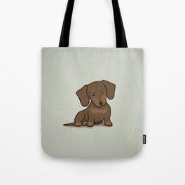 Daschund Puppy Illustration Tote Bag
