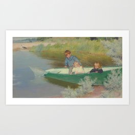 Charles Courtney Curran (1861-1942)   Great Expectations Art Print