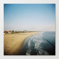 santa monica Canvas Prints featuring Santa Monica by RJ Del