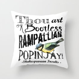 Bootless Rampallian Popinjay Throw Pillow