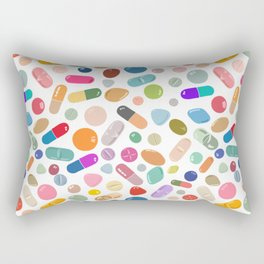 Unicorn Pills Light Rectangular Pillow