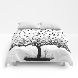 Crows in a tree Comforters
