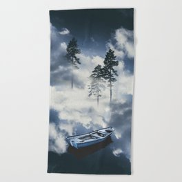 Forest sailing Beach Towel
