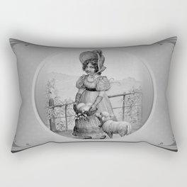 Happy Easter - Vintage little girl. Rectangular Pillow