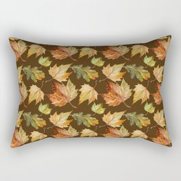 Brown and leaves Rectangular Pillow