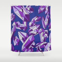 Falling crystals #14 Shower Curtain