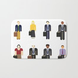 The Office Characters Bath Mat