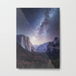 Yosemite Valley Milky Way Metal Print