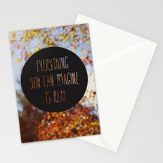 imagine the autumn bokeh Stationery Cards
