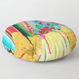 Gold Dipped Boho Serape Dream Floor Pillow