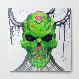Brainiac Skull Metal Print