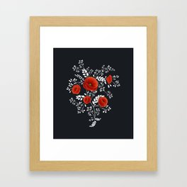 Poppy graphic Framed Art Print