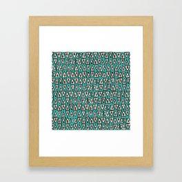 shakal turquoise Framed Art Print