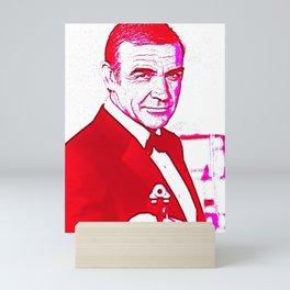 Society6 Pop Art - Greatest Actors - Scottish Sir Sean - Thomas Connery - 7 Bond Films 1962 - 1983 Mini Art Print