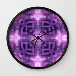 Pink Purple Squareza Wall Clock