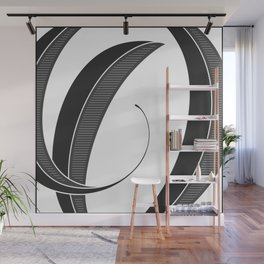 Letter O - Script Lettering Cropped Design Wall Mural