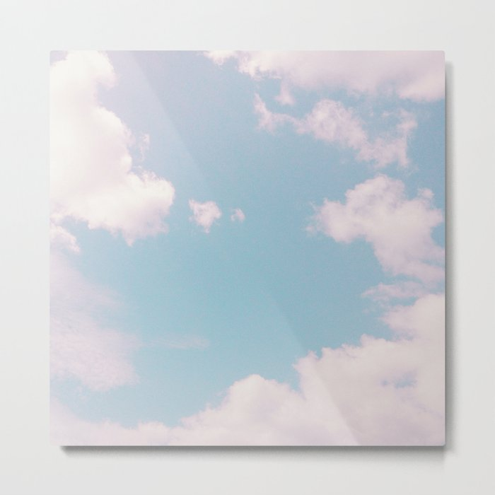 Every Cloud Has a Pink Lining Metal Print