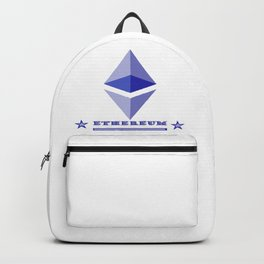 Ethereum criptocurrency icon Backpack