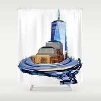 logo Shower Curtains featuring logo by Rebecca Ashe
