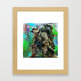 Army Soldier  Framed Art Print