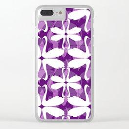 Purple Swans Clear iPhone Case