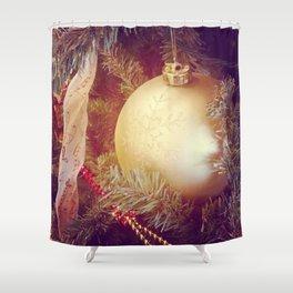 Golden Orb Shower Curtain