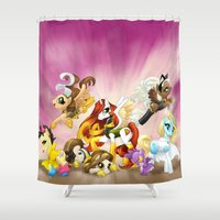 mlp Shower Curtains featuring MLP X-Women by Kimball Gray
