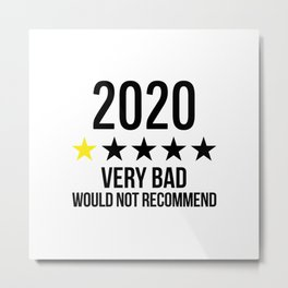 2020 VERY BAD - WOULD NOT RECOMMEND Metal Print