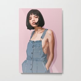Women on the pink background! Metal Print