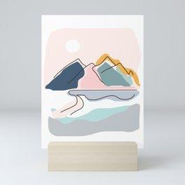 Minimalistic Landscape Mini Art Print