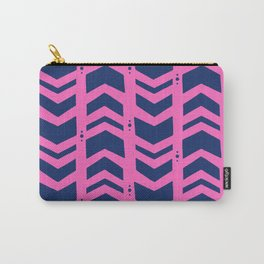 Midnight navy blue hot pink abstract geometric pattern Carry-All Pouch