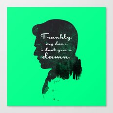 I don't give a damn! – Gone with the wind Silhouette Quote Canvas Print