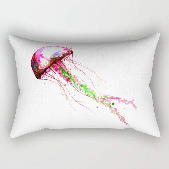 Pink Jellyfish Rectangular Pillow