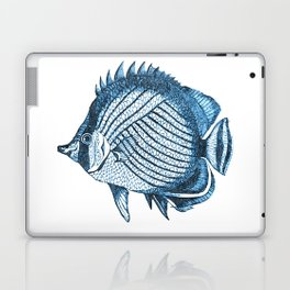 Fish coastal ocean blue watercolor Laptop & iPad Skin