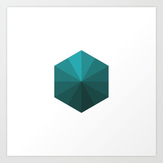 #120 A box of rays – Geometry Daily Art Print
