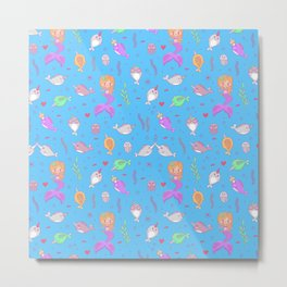 Narwhal and friends Metal Print