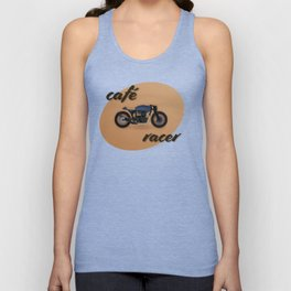Café racer bike Unisex Tank Top