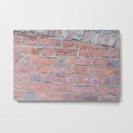 Red Brick Texture Metal Print