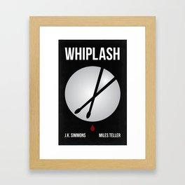 Whiplash Graphic Movie Poster Framed Art Print