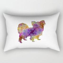 Papillon in watercolor Rectangular Pillow