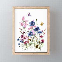 Wildflowers IV Framed Mini Art Print