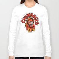 chewbacca Long Sleeve T-shirts featuring Chewbacca by Popp Art